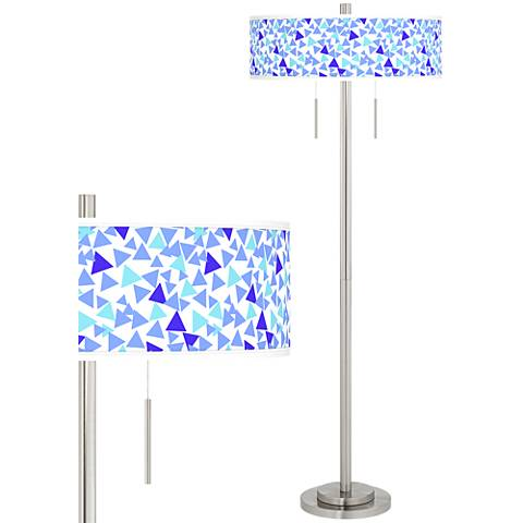 Geo Confetti Taft Giclee Brushed Nickel Floor Lamp