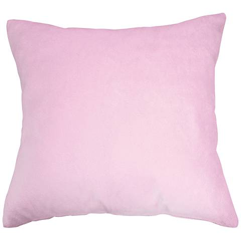 "Lilac Pink Bamboo Velvet 24"" Square Throw Pillow"