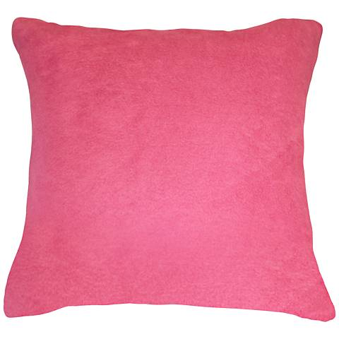 """Orchid Pink Bamboo Velvet 24"""" Square Throw Pillow"""