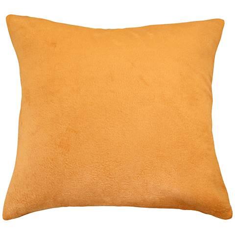 """Pumpkin Orange Bamboo Velvet 24"""" Square Throw Pillow"""