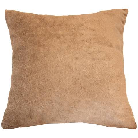 """Sand Bamboo Velvet 24"""" Square Throw Pillow"""