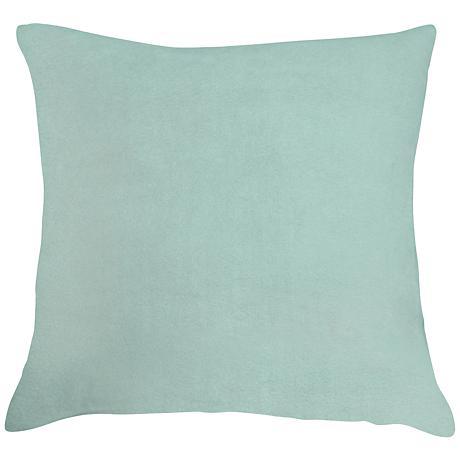 """Spa Blue Bamboo Velvet 24"""" Square Throw Pillow"""