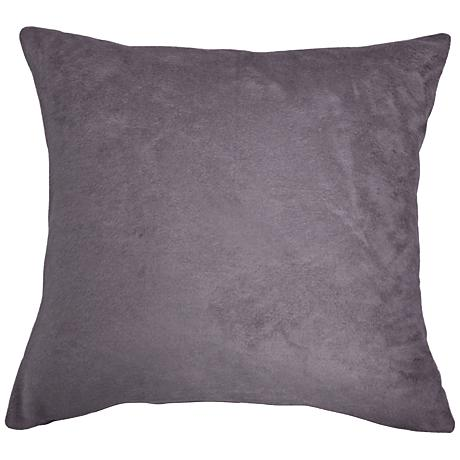 """Steel Gray Bamboo Velvet 24"""" Square Throw Pillow"""