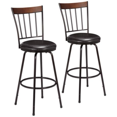 hillsdale cantwell brown counter stool set of 2 9h991 lamps plus. Black Bedroom Furniture Sets. Home Design Ideas
