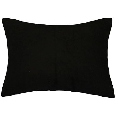 """Black Bamboo Velvet 14""""x20"""" Lumbar Throw Pillow"""