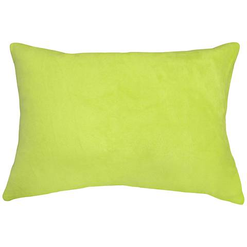"""Chartreuse Bamboo Velvet 14""""x20"""" Lumbar Throw Pillow"""