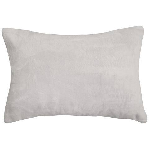 """Dove Gray Bamboo Velvet 14""""x20"""" Lumbar Throw Pillow"""