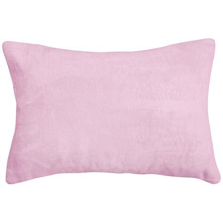 """Lilac Pink Bamboo Velvet 14""""x20"""" Lumbar Throw Pillow"""