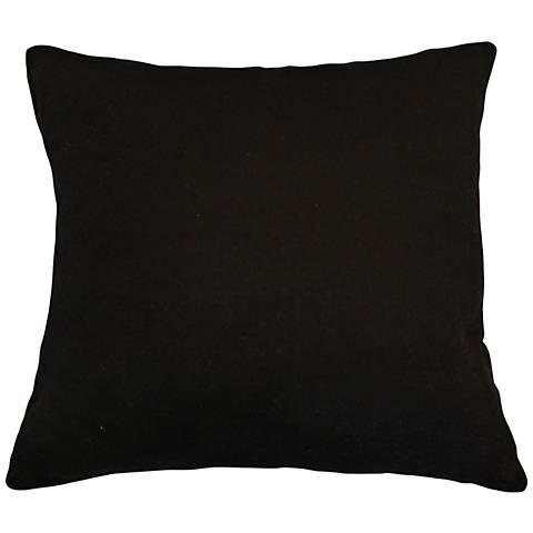 """Black Bamboo Velvet 18"""" Square Throw Pillow"""