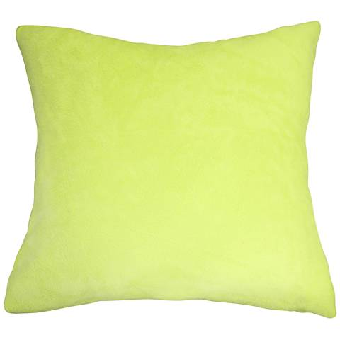"Chartreuse Bamboo Velvet 18"" Square Throw Pillow"