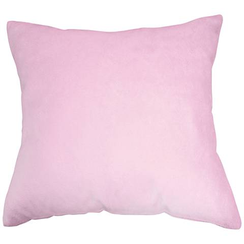 """Lilac Pink Bamboo Velvet 18"""" Square Throw Pillow"""