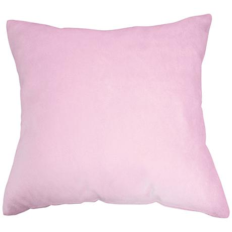 "Lilac Pink Bamboo Velvet 18"" Square Throw Pillow"
