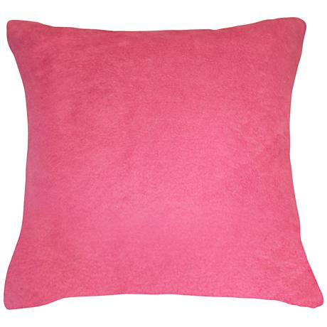 """Orchid Pink Bamboo Velvet 18"""" Square Throw Pillow"""