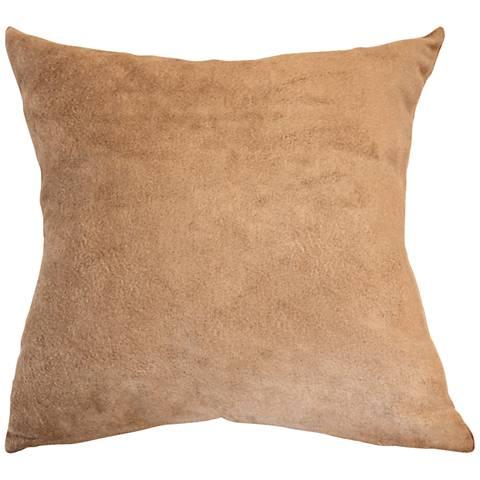 """Sand Bamboo Velvet 18"""" Square Throw Pillow"""