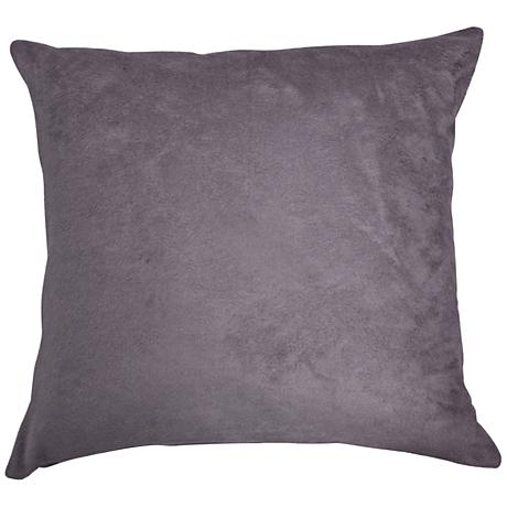 """Steel Gray Bamboo Velvet 18"""" Square Throw Pillow"""