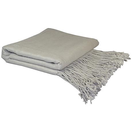 Bamboo Velvet Dove Gray Throw Blanket