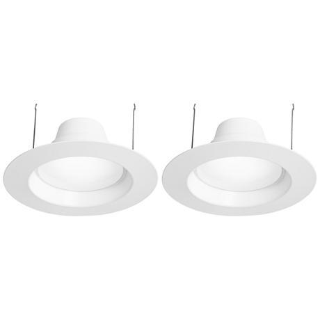 "6"" White 15W LED1100 Lumen Retrofit Trim 2-Pack"