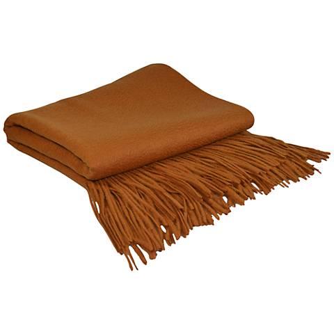 Copper Signature Cashmere Blend Throw Blanket