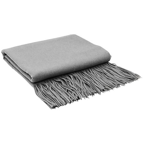 Light Gray Signature Cashmere Blend Throw Blanket