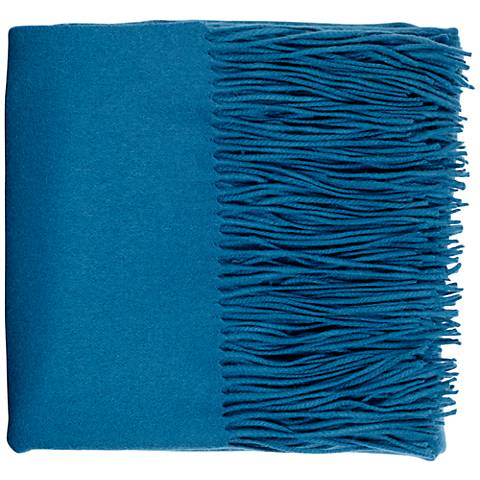 Teal Blue Signature Cashmere Blend Throw Blanket