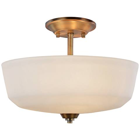 "Artcraft Hudson 14 1/2""W Vintage Brass 3-Light Ceiling Light"