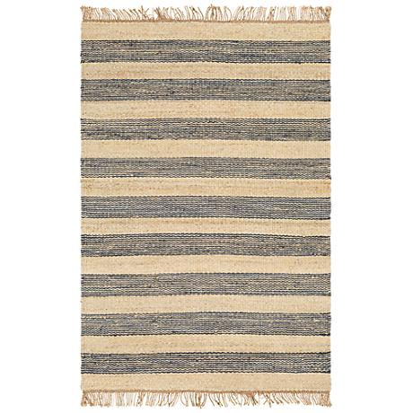 Surya Davidson Navy And Cream Jute Area Rug 9j065