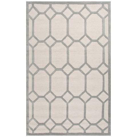Jaipur Lounge Gray and White Wool Area Rug