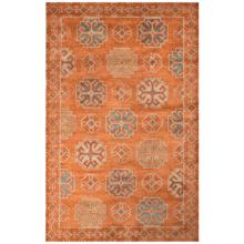 Jaipur Pendant Orange and Blue 8'x11' Wool Area Rug