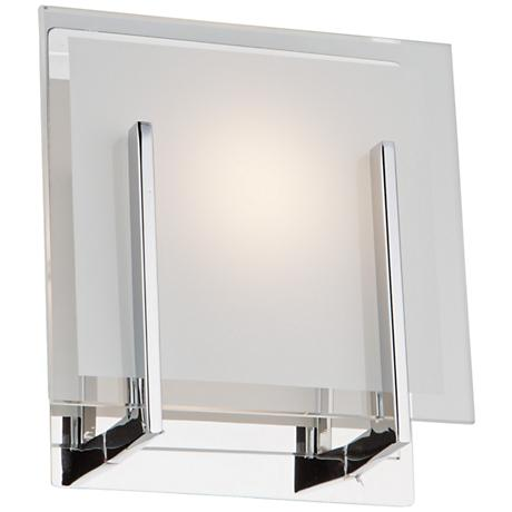 "Artcraft Kingsley 7 1/4"" High Chrome LED Wall Sconce"