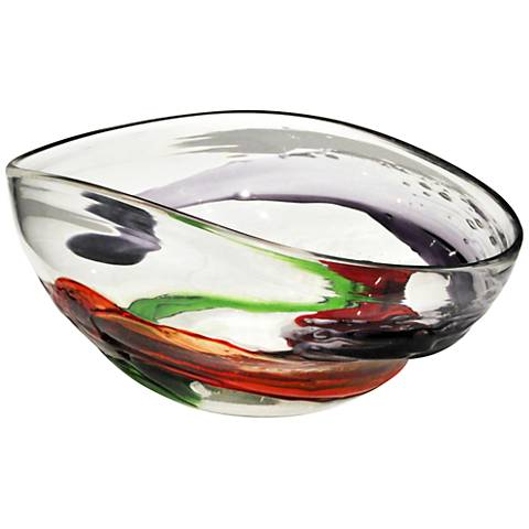 Dale Tiffany Mishka Multi-Color Art Glass Bowl