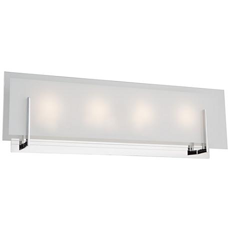 "Artcraft Kingsley 22 3/4"" Wide Chrome 4-Light LED Bath Light"