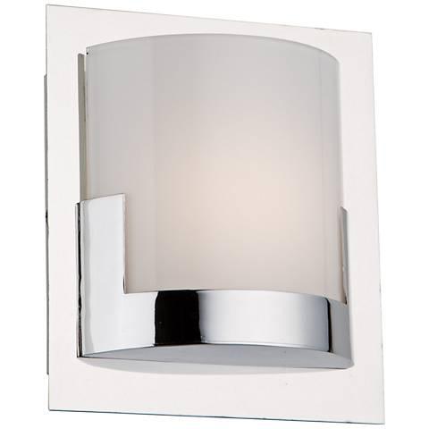 "Artcraft Rialto 6"" High Chrome LED Wall Sconce"