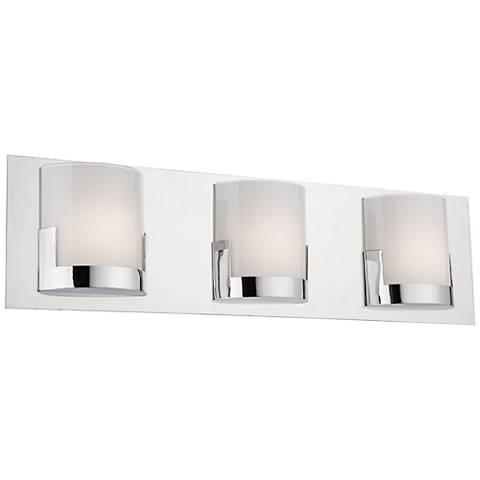 """Artcraft Rialto 22"""" Wide Chrome 3-Light LED Bath Light"""