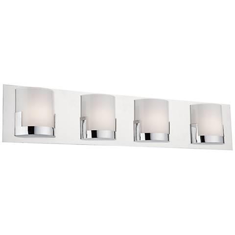 """Artcraft Rialto 29 1/2"""" Wide Chrome 4-Light LED Bath Light"""