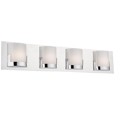 "Artcraft Rialto 29 1/2"" Wide Chrome 4-Light LED Bath Light"