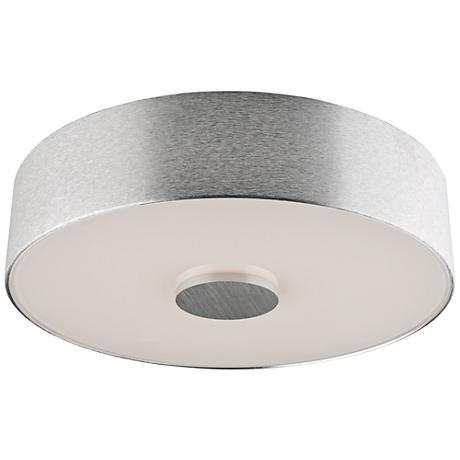 """Fantasia 10"""" Wide Brushed Aluminum LED Ceiling Light"""