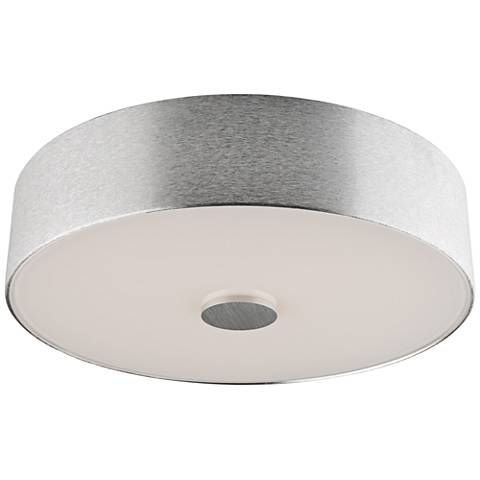 "Fantasia 15 3/4"" Wide Brushed Aluminum LED Ceiling Light"
