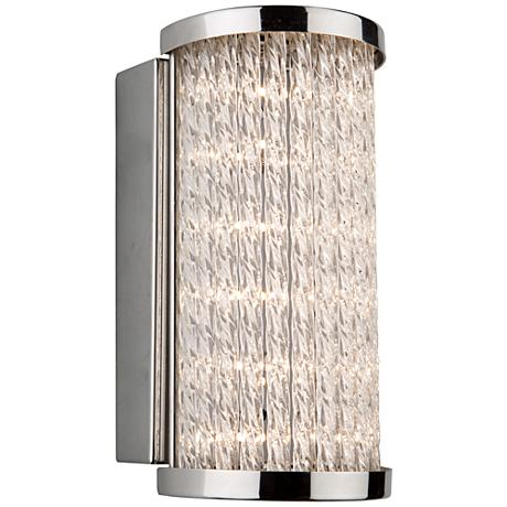 "Artcraft Waterfall 4 3/4"" High Chrome LED Wall Sconce"