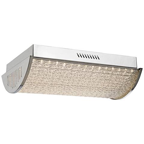 "Artcraft Waterfall 10 1/2"" Wide Chrome LED Ceiling Light"