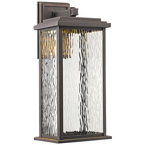 """Artcraft Sussex 19"""" High Bronze LED Outdoor Wall Light"""