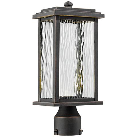 "Artcraft Sussex 13 1/2"" High Bronze LED Outdoor Post Light"