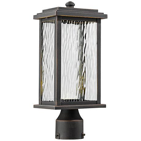 "Artcraft Sussex 13 1/2"" High Bronze LED Outdoor Post Light"