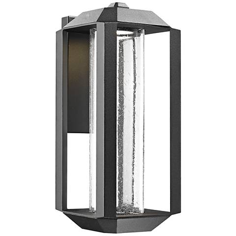 "Artcraft Wexford 17"" High Black LED Outdoor Wall Light"