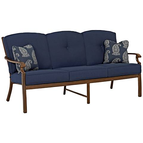 Klaussner Trisha Yearwood Denim Fabric Coffee Outdoor Sofa
