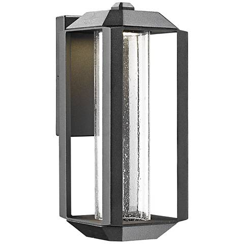 "Artcraft Wexford 13 1/2"" High Black LED Outdoor Wall Light"