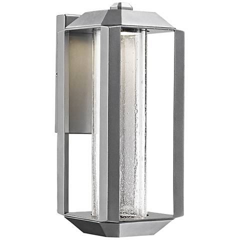 """Artcraft Wexford 13 1/2""""H Silver Leaf LED Outdoor Wall Light"""
