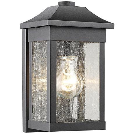 """Artcraft Morgan 10 1/2""""H Black Outdoor Wall Light"""
