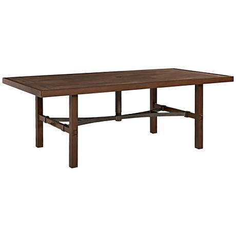 Trisha Yearwood Coffee Rectangular Outdoor Dining Table