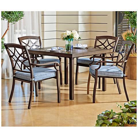 Trisha Yearwood Denim Coffee Outdoor Dining Chair Set of 4