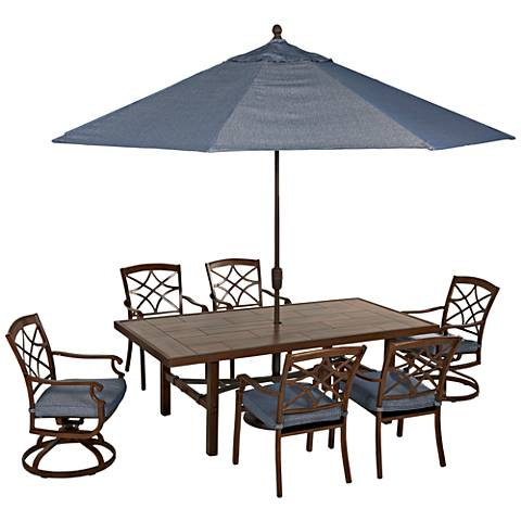 Klaussner Trisha Yearwood 11' Denim Fabric Umbrella